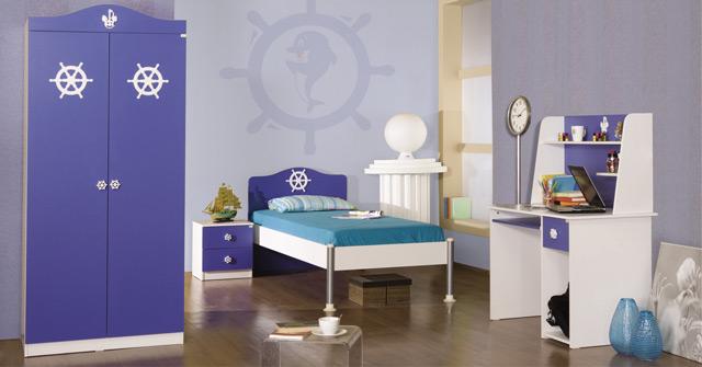 Оттенки синего в детской комнате