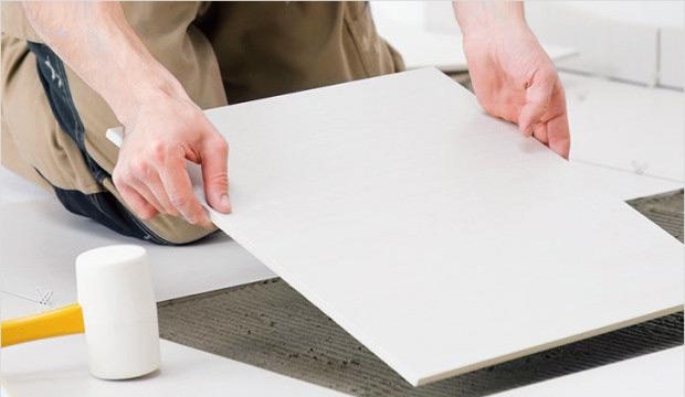 Укладка мраморной плитки на раствор