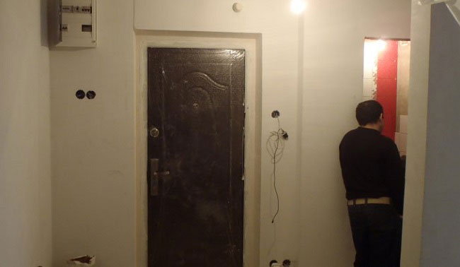 Разводка электрики в квартире практически завершена