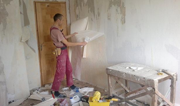 Начало ремонта в одной из комнат