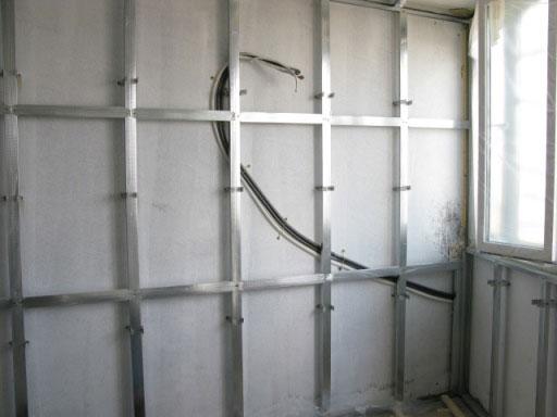 Подготовка балкона к отделке гипсокартоном