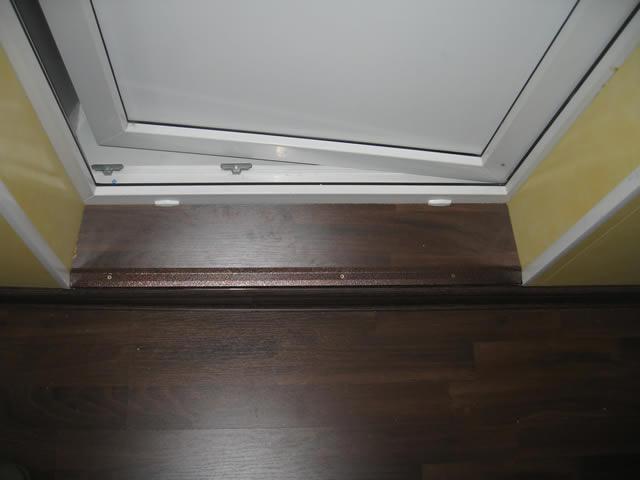 Как сделать порог на балкон самостоятельно