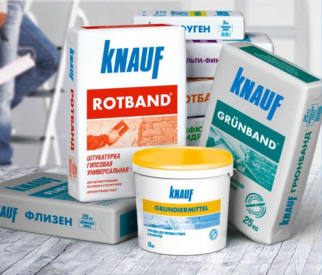 Сухая смесь на цементной основе фирмы Knauf