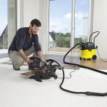 При ремонте деревянного пола лучше использовать промышленный пылесос