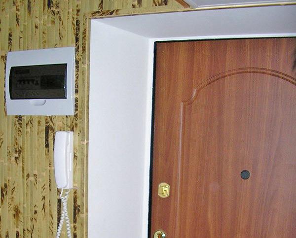 Отделка входной двери панелями своими руками