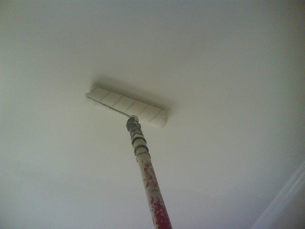 Окрашивание потолка водоэмальсионкой