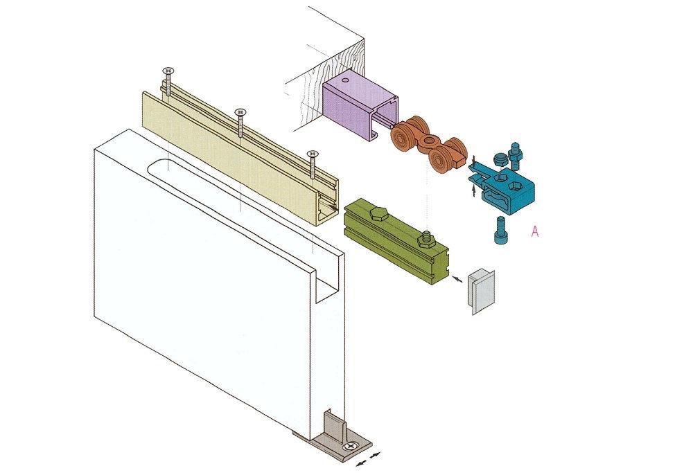 Есть два варианта установки раздвижных дверей
