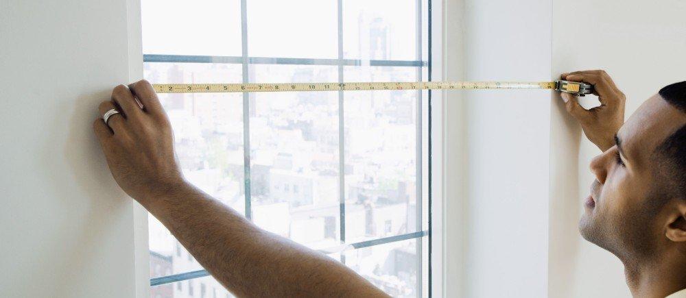 Измерение проёма окна