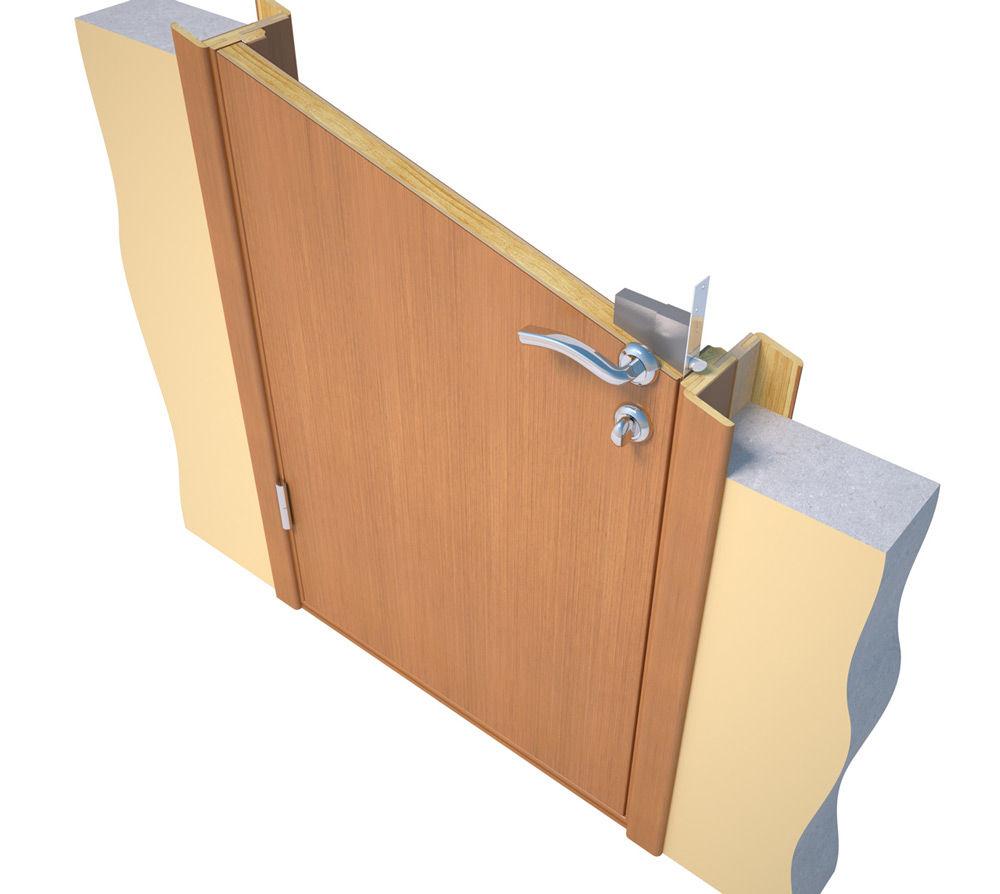 Коробка и дверь в разрезе