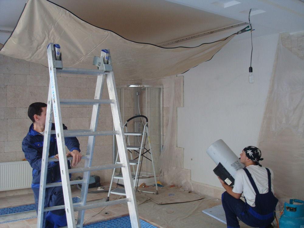 Как сделать натяжной потолок  без нагрева видео 4