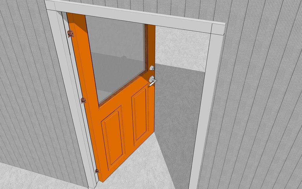 Установленная дверь