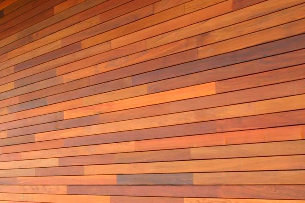 Деревянный сайдинг из породы тропического дерева Меранти