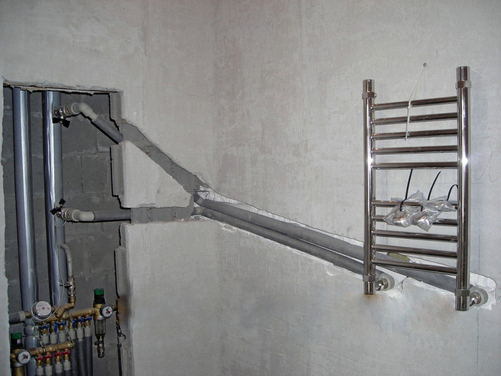 Подключение полотенцесушителя
