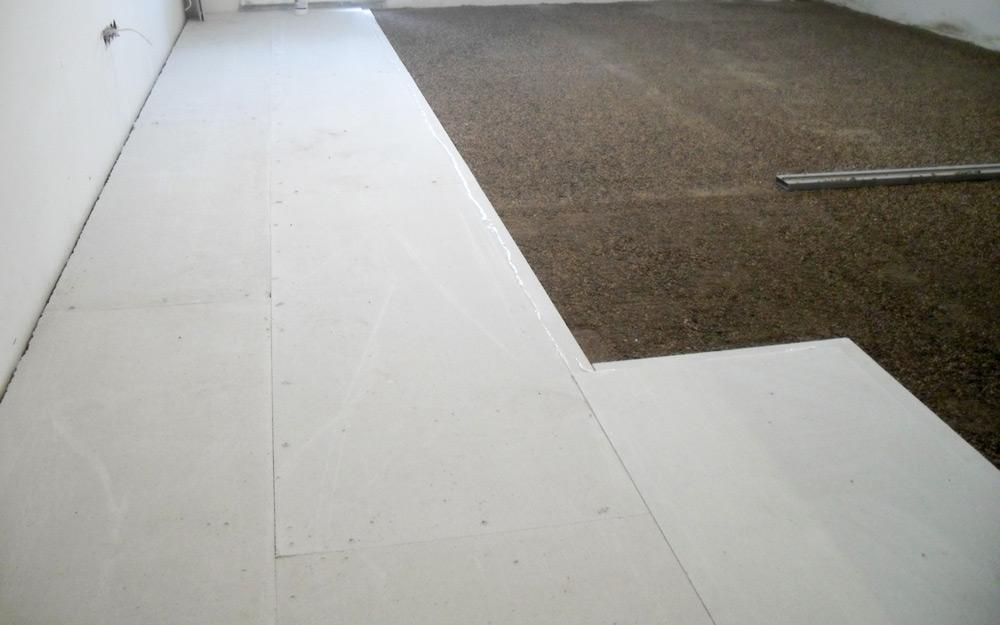 Монтаж напольного покрытия на сухую стяжку Кнауф