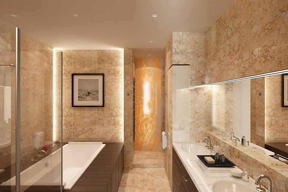 Marble bathroom