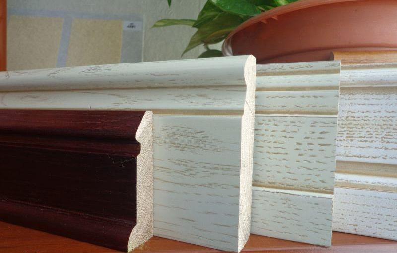 Варианты деревянных плинтусов