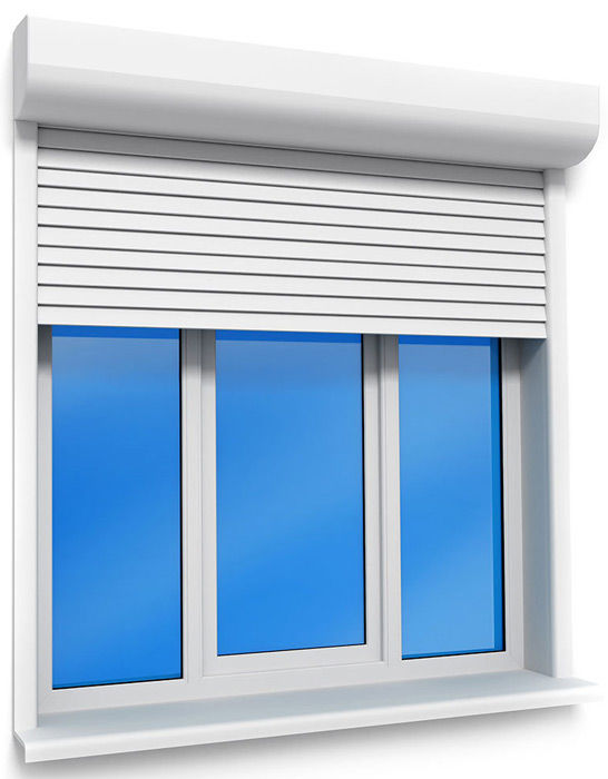 Окно с рольставнями