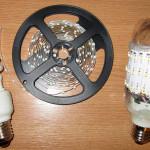 Светодиодная лампа із энергосберегающей