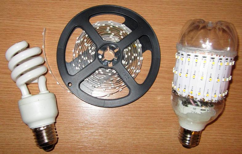 Светодиодная лампа из лампы своими руками