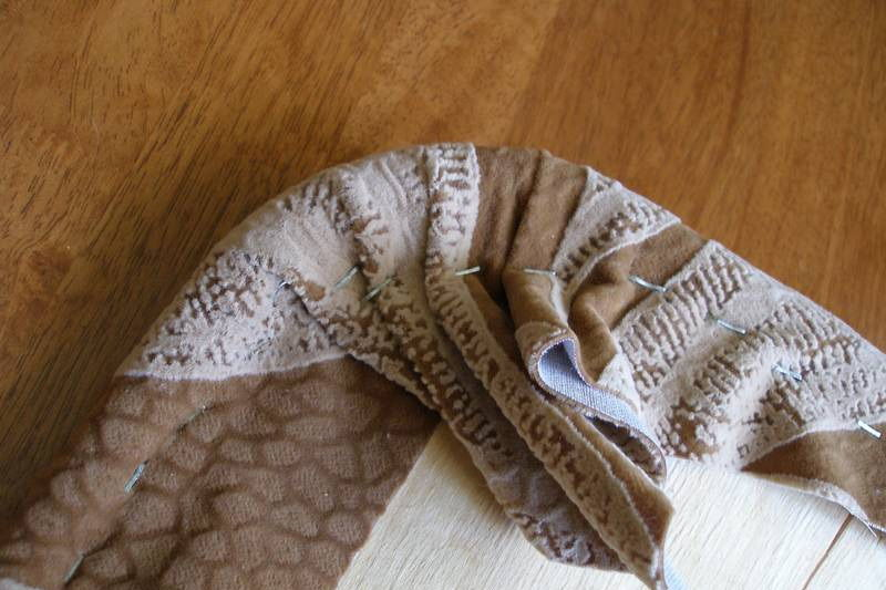 Фиксация ткани на углах