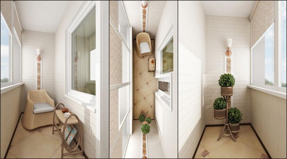 Дизайн интерьера балкона (вариант)