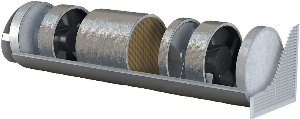 Приточно-вытяжная вентиляция в разрезе