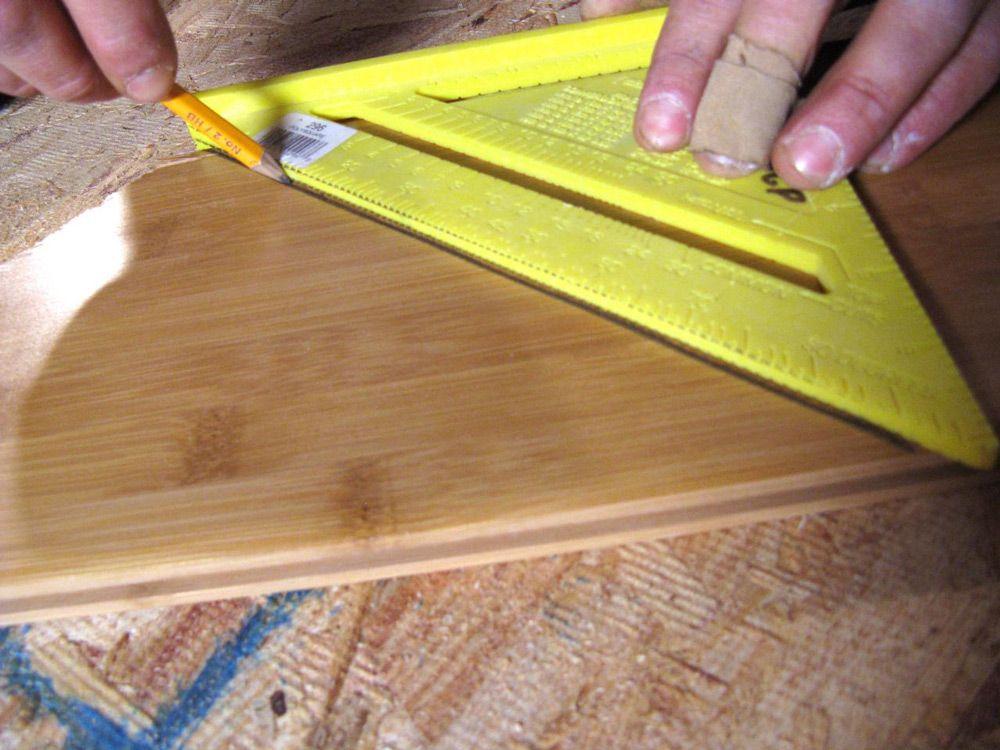 Разметка ламината для обрезки
