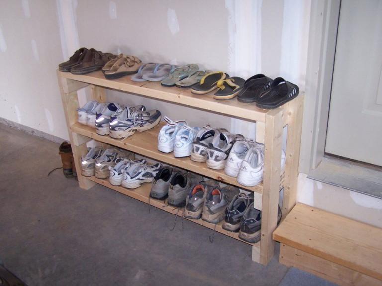 Сделать полку для обуви своими руками фото