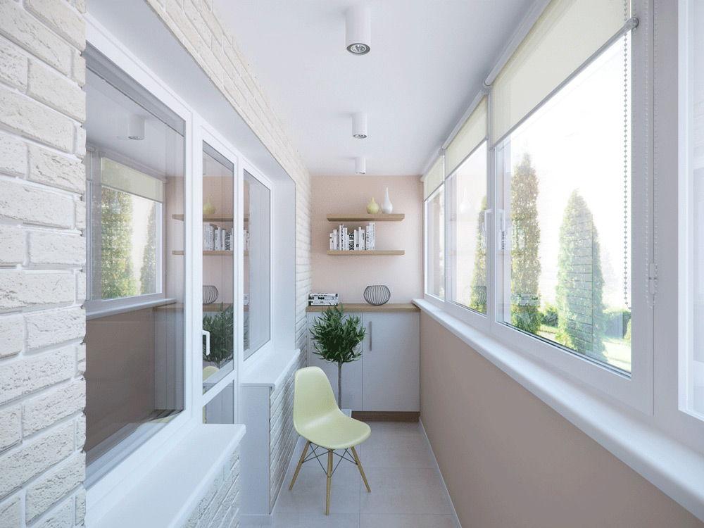 Вариант обустройства балкона