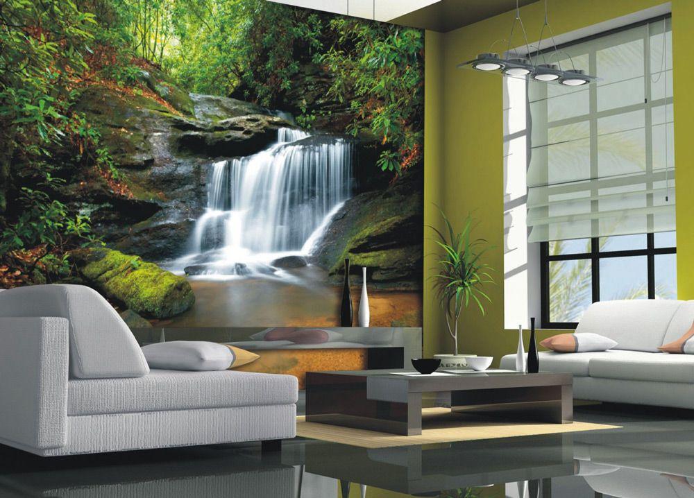 Фотообои с водопадами в интерьере фото