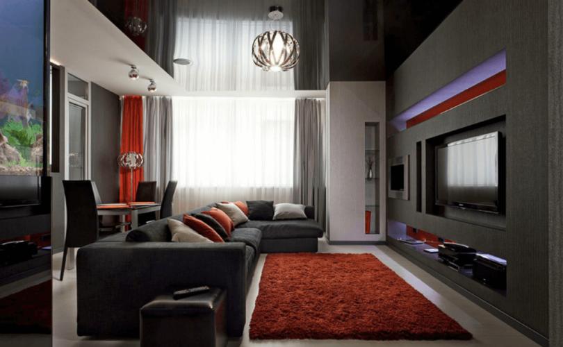 Дизайн гостиная хай тек