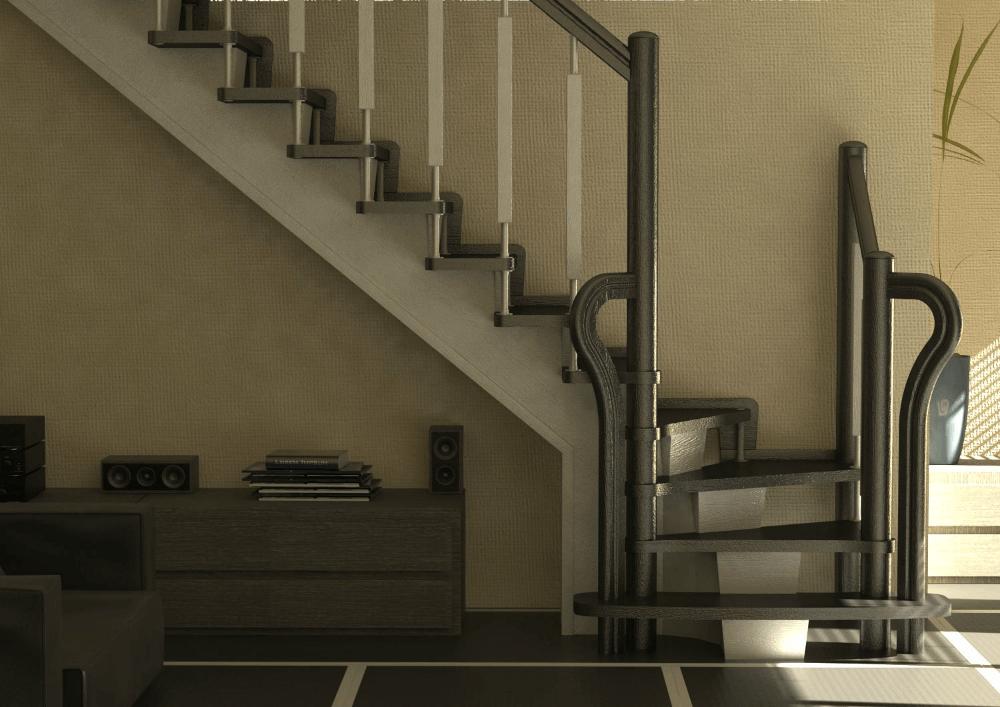 Лестница в английском интерьере