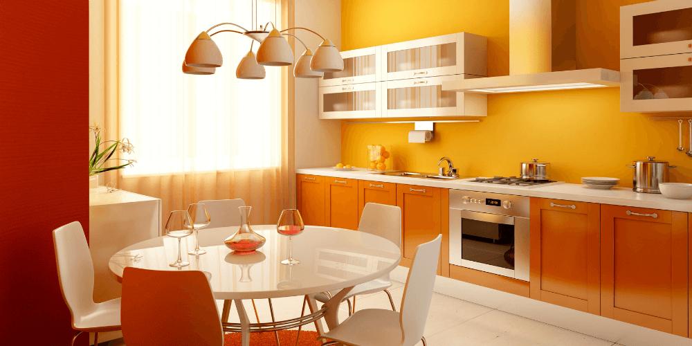 Цветной светильник для кухни в сочетании цвета