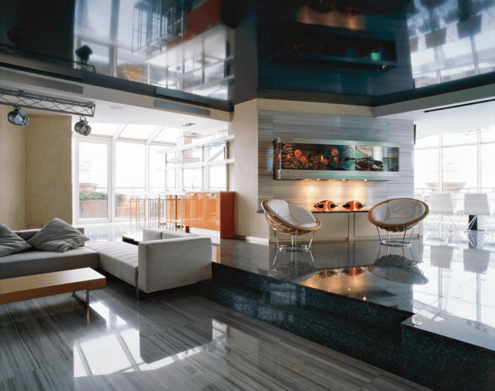 Квартира с интерьером хай-тек