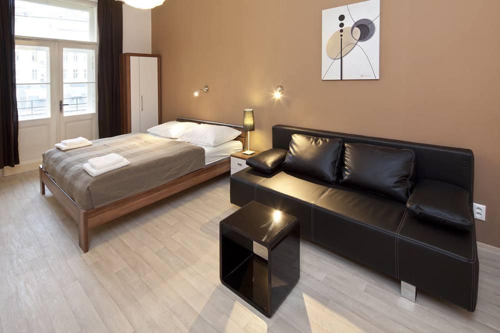 Зонирование спальни-гостинной
