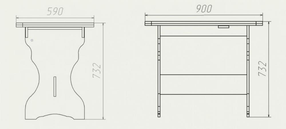 Размеры кухонного стола