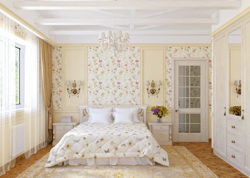 Фотообои с мелким узором для спальни