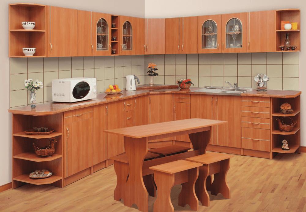 Фасад и стол для кухни из ДСП