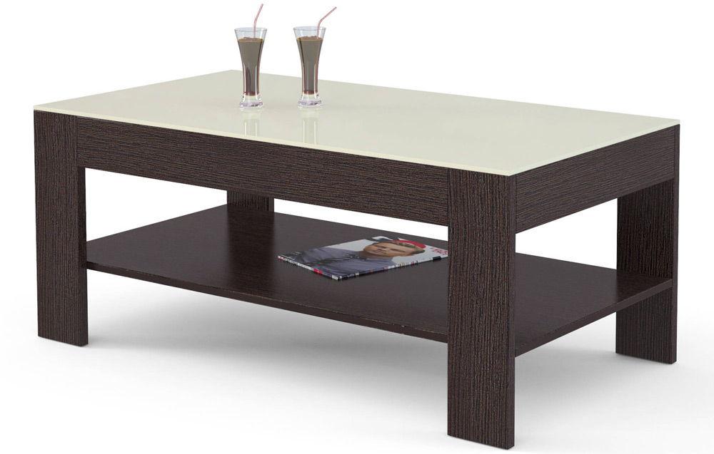 Темный журнальный столик с напитками