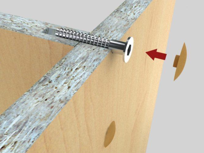 Схема мебельного крепления