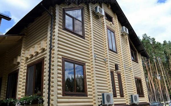 Деревянный фасад, покрытый Biofa