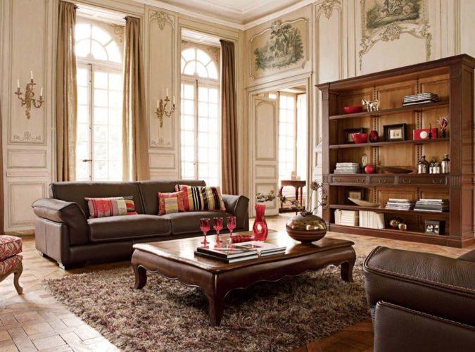 Античный стиль интерьера гостиной