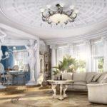 Гостиная в античном дизайне