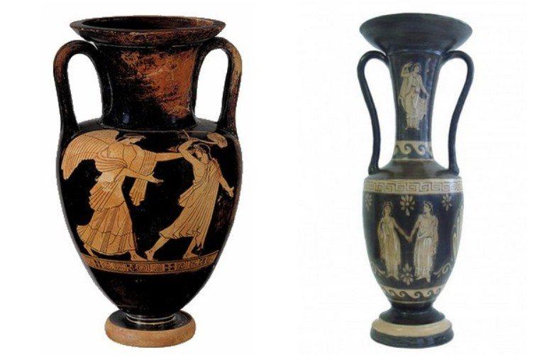 Напольные античные вазы