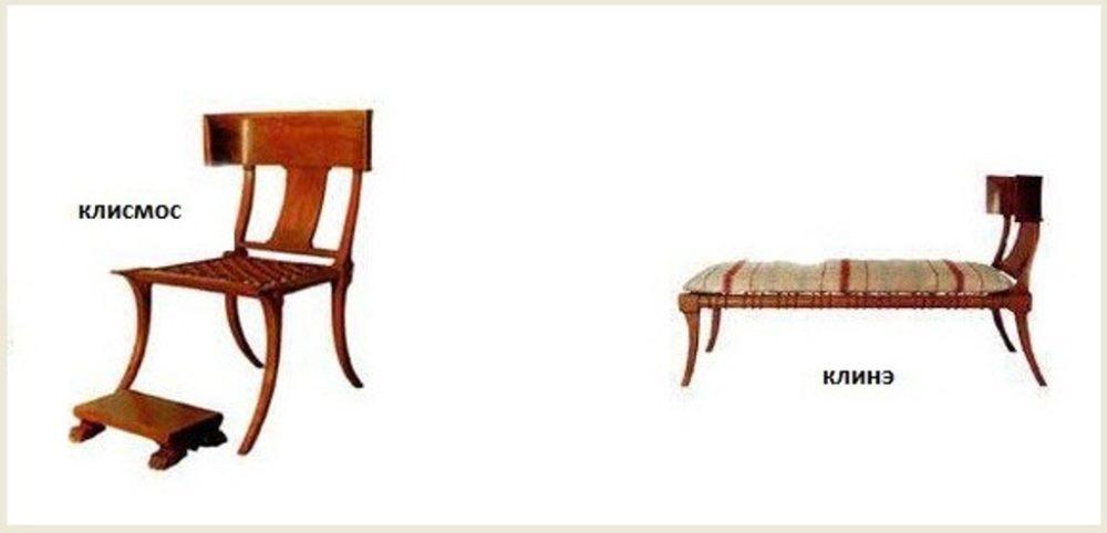 Типичная античная мебель