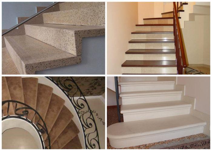 Варианты лестниц из бетона на второй этаж