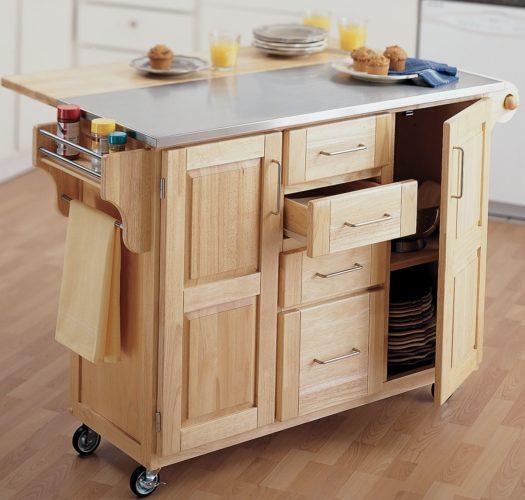 Кухонный остров с ящиками и шкафами