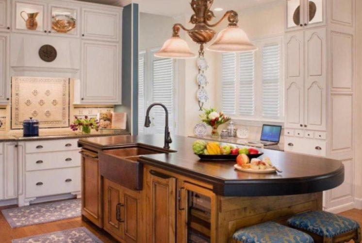 Кухонный остров с раковиной