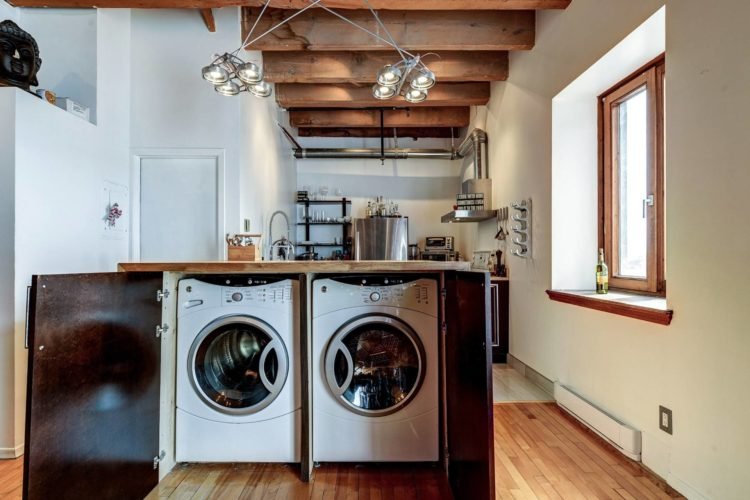 Кухонный остров со стиральной машиной