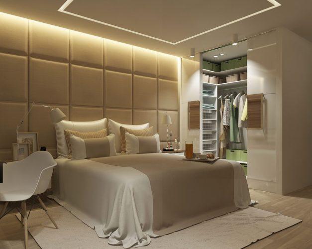 Гардеробная система в спальне